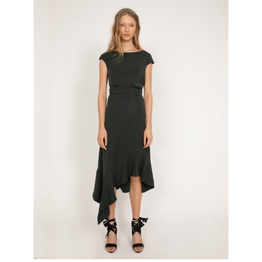 Ahlvar tamsiai žalia suknelė