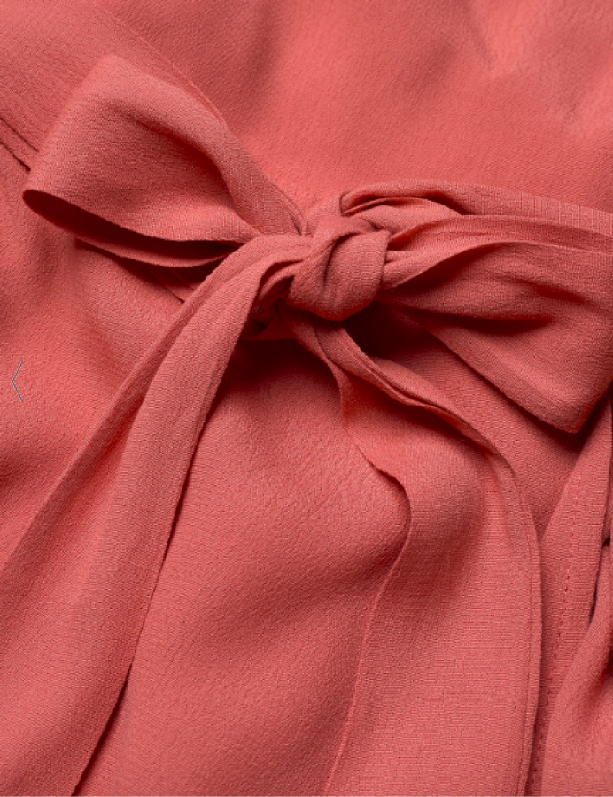 Residus susijuosiama suknelė terra cotta