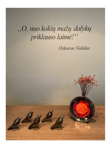 Tamsūs keramikiniai paukšteliai |PAPILDYMAS|