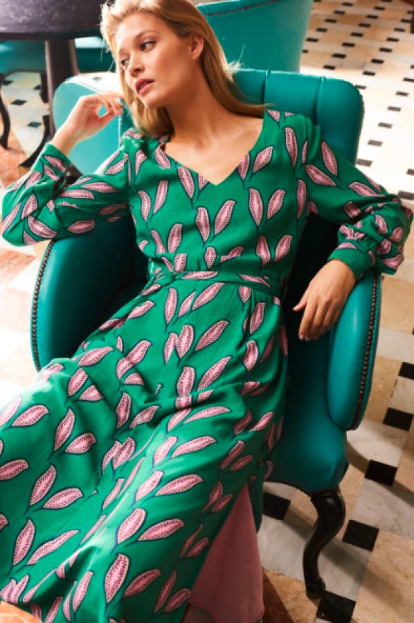 Fabienne Chapot raštuota suknelė Pink Pepper